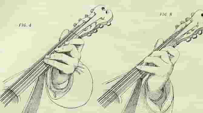 Left hand on mandolin