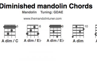 A diminished mandolin chords chart