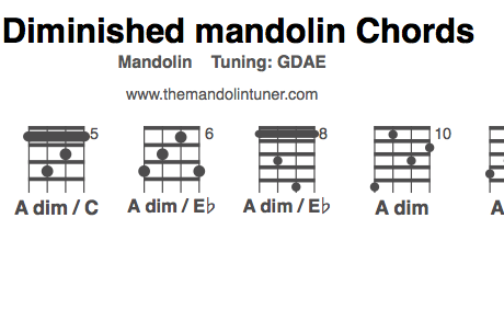 How to play A diminished mandolin chords – You can't live without them, trust me