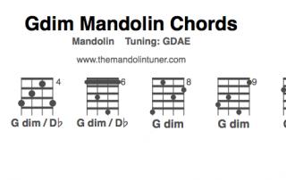 Gdim mandolin chord chart