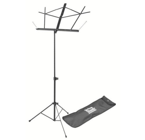 On Stage SM7122BB Folding Music Stand with Carrying Bag - Black- Musical Instruments