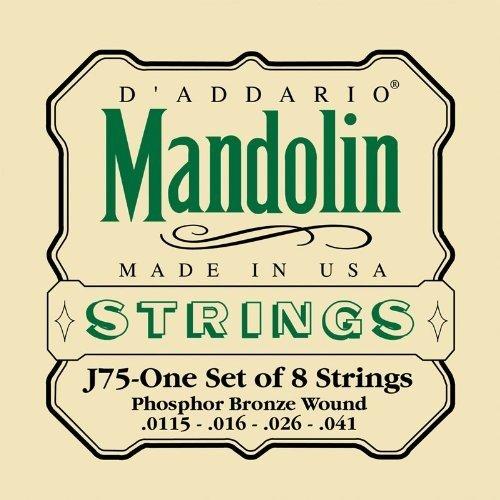 Amazon.com- D'Addario J75 Mandolin Strings, Phosphor Bronze, Medium-Heavy, 11.5-41- Musical Instruments.clipular