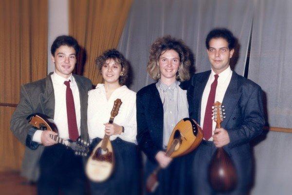 Christos Rizos with Orchestra members Dimitra Raisi, Sophia Polizou, Nikow Doukas