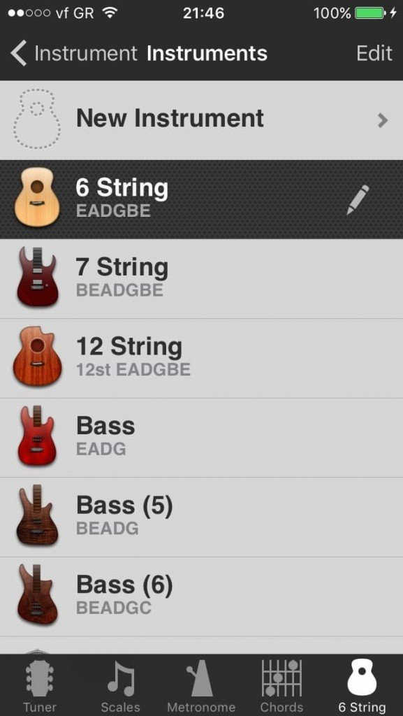 Guitar toolkit mandolin selection