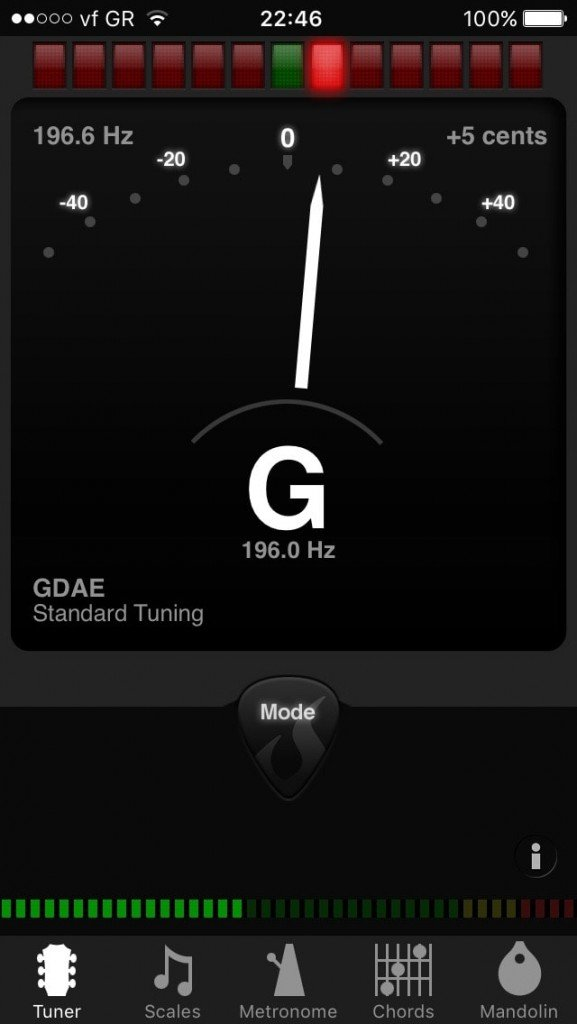 G string not accurately tuned