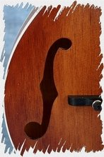 Mandolin Parts - Mandolin Soundhole f-type