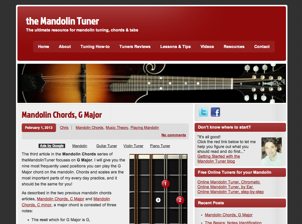 Why i changed the look n feel of themandolintuner blog the mandolin tuner v1 hexwebz Images