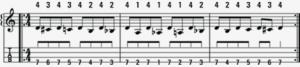 left hand mandolin exercise