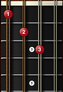 C augmented mandolin chord 1