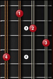 C augmented mandolin chord variant 2