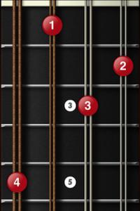 C diminished mandolin chord position 1