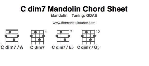 How to play C dim7 mandolin chords