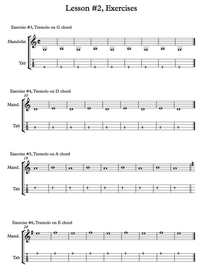 Mandolin Tremolo - Exercises