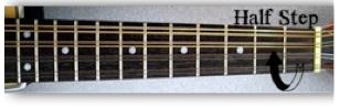 half step on the mandolin