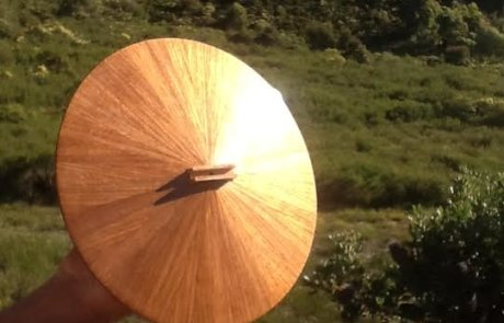 Timber cone experiment resonator soundboard 2
