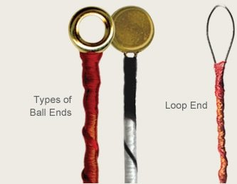 Strings ball-end and loop-end
