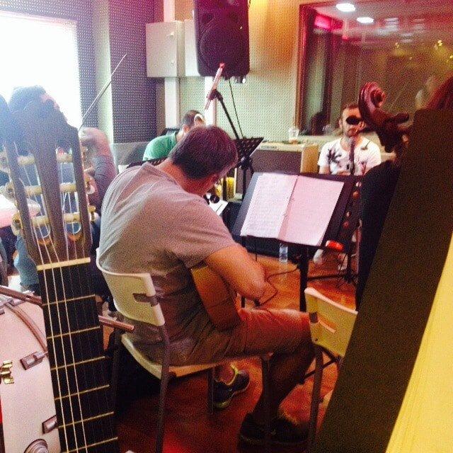 Me tuning my mandola