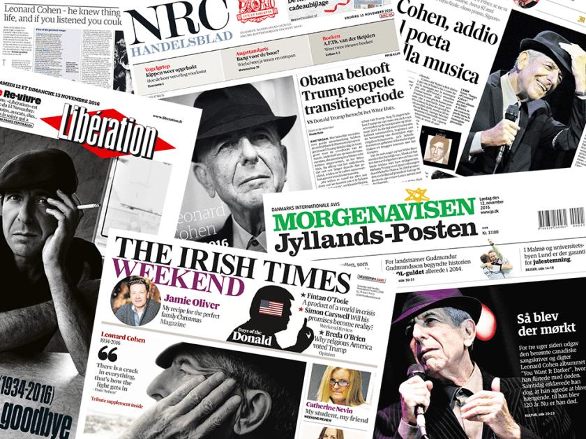 Good bye Leonard Cohen