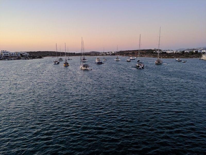 Antiparos boats resting